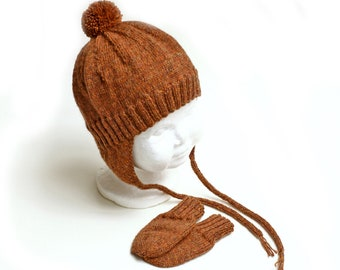 Bomber Hat and Mitten Set