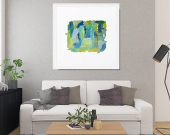 Abstract Watercolor, Framed Art Print, Abstract Wall Art, Gallery Wall, Framed Watercolor, Abstract Art Print, Framed Abstract, Framed Art