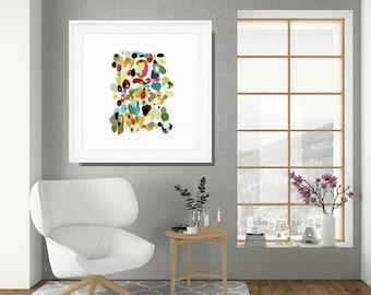 Retro Wall Art, Framed Wall Art, Abstract Art Print, Framed Art Print, Framed Art, Framed Print, Framed Abstract Art, Retro Art Print
