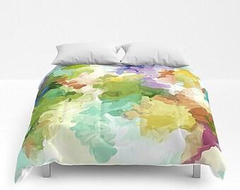 Queen Comforter, Watercolor Bedding, King Bed Cover, Abstract Bedding, King Comforter, Full Bedding, Watercolor Bedroom, Queen Bedding