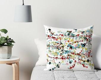 Dots Pillow, Throw Pillow, Couch Pillow, Couch Cushion, Abstract Pillow, Art Pillow, Dots Cushion, Modern Pillow, Sofa Pillow, Dorm Decor