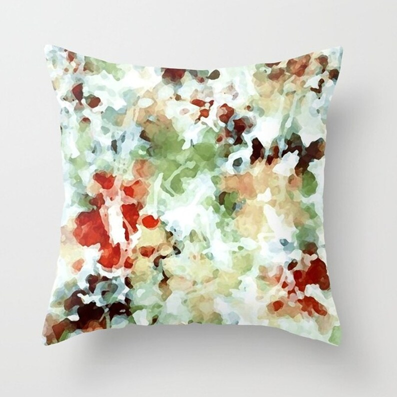 Abstract watercolor throw pillow 14x14 16x16 18x18 or 20x20 image 0