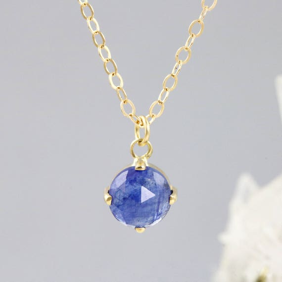 Rose Cut Yellow Sapphire Necklace