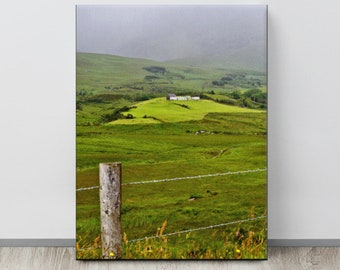 Irish Cottage on Rolling Green Hills in Co. KERRY, Quintessential IRELAND Landscape Photo, Nice St. Patrick's Day Gift, Irish Country Decor