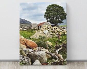 Silent Valley Cottage, Mourne MOUNTAINS, Co. Down, Northern IRELAND, Idyllic Landscape,Irish Photo, St. Patrick's Gift,Pub Decor,Ireland Art