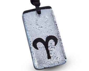 Aries Zodiac Necklace Horoscope Necklace Minimalist Necklace Handmade Mens Jewelry Handmade by ZulaSurfing