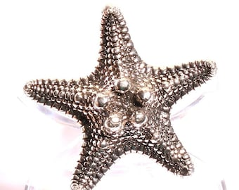 White knobby Starfish Ring size 8 .925 Sterling silver Beach Jewelry ocean Ring Handmade By ZulaSurfing