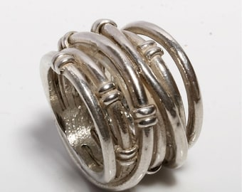 Beautiful solid sterling silver wrap ring size 5 3/4 by zulasurfing