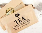Wedding Favor Tea and Coffee Bags  - Budget Favor - Winter Wedding Ideas  - 20 kraft Food Bags (favors not included)