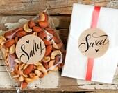 Salty & Sweet Wedding Favor Stickers - DIY Bride - Pack of 20