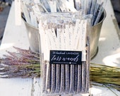 Lavender Wedding Toss Wands - Confetti Alternative  - Outdoor Petal Send Off - Flower Toss - Toss Me Decor - 25 tubes per pack