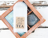Party Favor Tea Bags - Par TEA - Bags and stickers - DIY Favor Project - tea bag, tea party, winter, alice wonderland - 20 envelopes