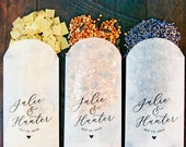 Petal Toss Glassine Envelopes - DIY Aisle Exit - Custom Names - 60 bags or more