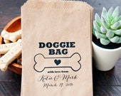 Wedding Favor Doggie Bag - Gift from Your Pet - Ultimate Dog Lover's Ceremony - 20 Bags