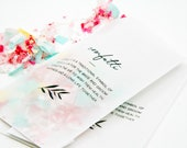 Transparent Toss Bags - DIY Wedding Exit - Confetti Tradition Design - Pack of 20
