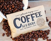 Wedding Favor Bag - Coffee House Design - 20 Personalized Food Safe Bags