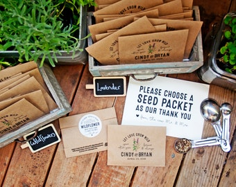 Seed Packet Wedding Favors | Wedding Seed Packets Personalized Favor Bags With Seeds Etsy