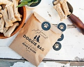 Wedding favor, Doggie bags - Pet Silhouette - 20 wax lined bags (favors not included)