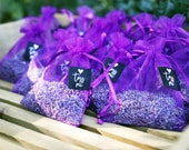 Wedding Toss Lavender Sachets - Outdoor Venue and Earth Friendly - Pack of 20