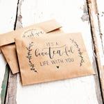 Wedding Tea Favor - Romantic Tea Pun - DIY Brown bags and stickers  - Thoughtful guest gift - 20 tea wrap bags