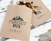 The Perfect Mix - Personalized Bags - Mountain, Camping Theme -  20 lined kraft paper Bags (food not included)