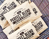 The Perfect Blend Coffee Favor Bags  - Paper Coffee Bean Wrap - Custom DIY Wedding Favor - 20 Kraft Wedding food Bags