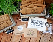 Wedding Seed Packets - Personalized Favor Bags with Seeds Included - 30 Packets or more