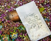 Petal Toss Poem - Glassine Envelopes - DIY Aisle Exit - Personalized with Your Names - 40 bags or more