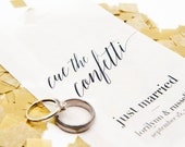 Confetti Toss - Just Married Personalized Bags - Pack of 20 Medium Size Glassine Bags