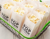 Popcorn Favor Bags - Personalized Wedding Favor - Rustic Gold Design - 20 Pack (food not included)
