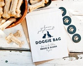 Wedding favor, Doggie bags - Pet Silhouette - 20 wax lined bags