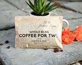 Topographical Map Wedding Favor - Coffee Bags - Personalized Whole Bean Bag - 20 Bags (coffee not included)