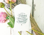 Petal Toss Wedding Exit - Glassine Flower or Confetti Bags - Hooray Design - Pack of 20 Bags