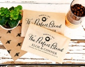 The Perfect Blend Coffee Wedding Favor - Heart Cup Drawing - 20 Paper Favor Bags (coffee not included)