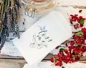 Glassine Toss Bags - DIY Wedding Petal Exit - Poppy Botanical Toss Me Design - Pack of 20