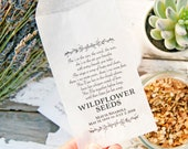 Memorial Seed Favors - DIY Printed Glassine Bags - Customize with your Poem - Celebration of life - Pack of 20