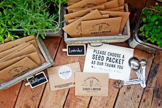 Seed Packet Wedding Favors Personalized Bag And Seeds Etsy