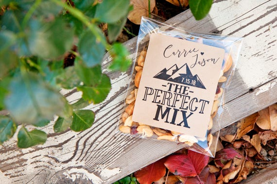 The Perfect Mix Wedding Favor Stickers DIY Trail Mix Favors | Etsy