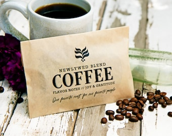 Wedding Favor Tea and Coffee Bags  - Budget Favor - Winter Wedding Ideas  - 20 kraft Food Bags (favors not included) #033