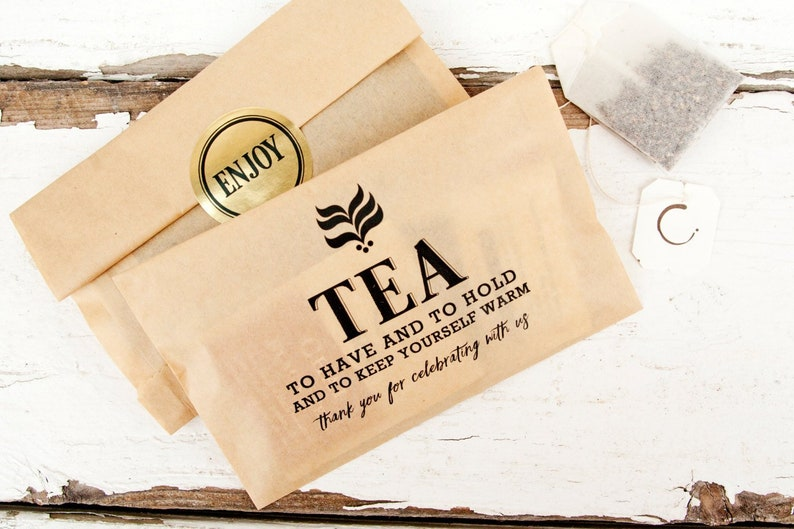 Wedding Favor Tea And Coffee Bags Budget Favor Winter Etsy