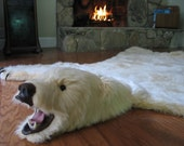 Soft and Glamorous White Faux Polar Bearskin Rug - Limited Edition (26)