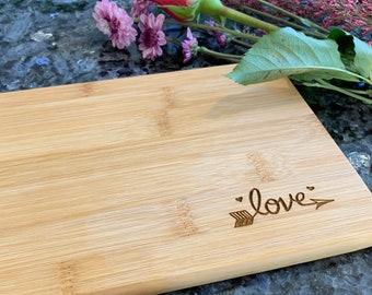 Custom Cutting board - Love - Bamboo