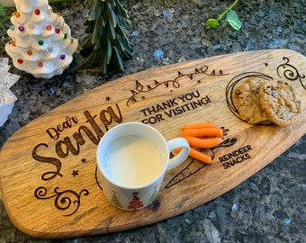 Custom Santa Tray - personalize with your child's name - unique oval shape