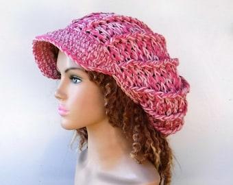 50f7319b32972 2 tone Pink blush Visor Cap