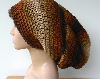 453477e9a Slouchy beanie hats dread tams scarves by PurpleSageDesignz