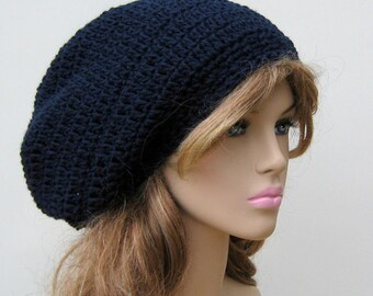 af68d378749 PDF Instant Download Pattern Basic Dread Tam or Slouchy Beanie Hat Easy  Beginner Crochet for women and men permission to sell finished hats