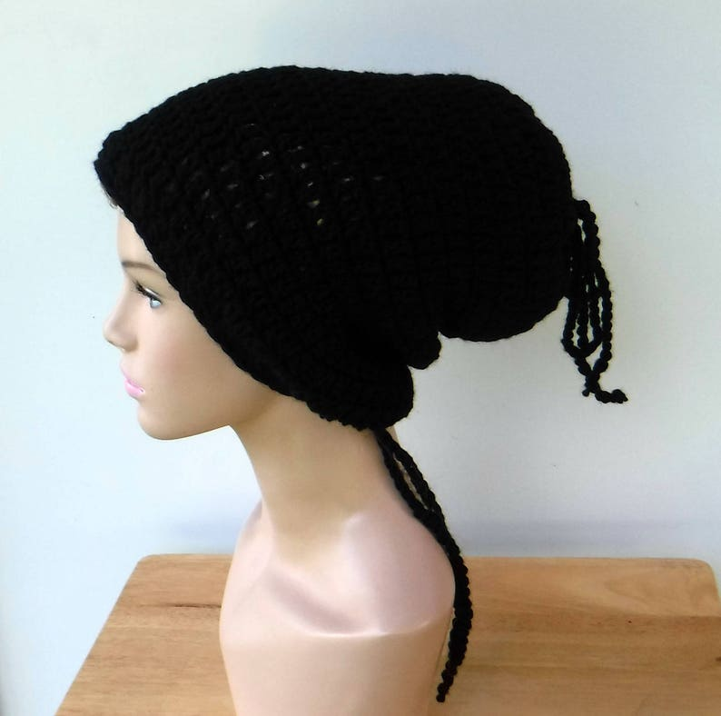 67275a70079 2 in 1 Dread tube or slouchy hat dreadlocks beanie with open