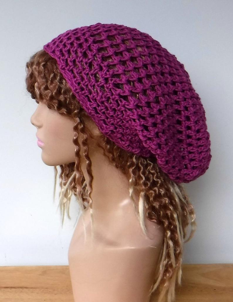 aadab334 Woman slouchy hat/smaller women Dread Tam cotton Hair net | Etsy