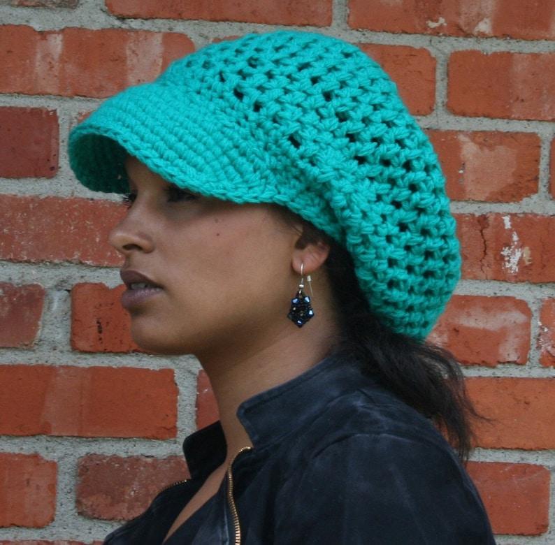 0afd5a5a Visor Slouchy Beanie Custom Color Visor Tam Hat Hippie | Etsy