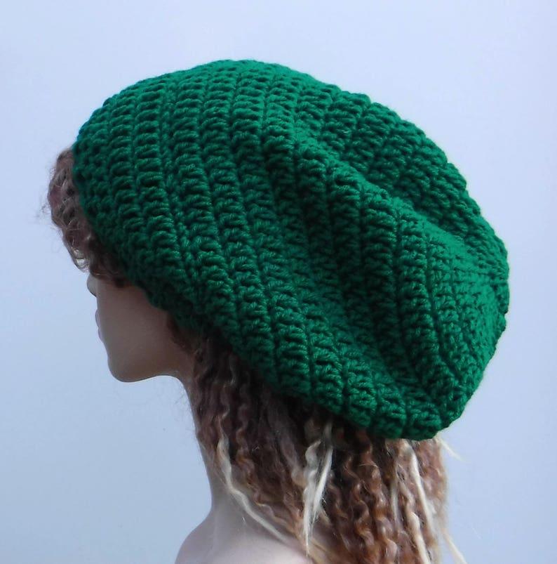 8cbac830138 St Patrick green Slouchy Beanie longer tam hat Dreadlock